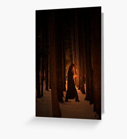 Wood Deep Woman  Greeting Card
