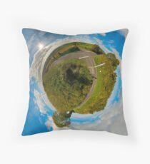 Country Roads - Killea Crossroads, Derry, N. Ireland Throw Pillow