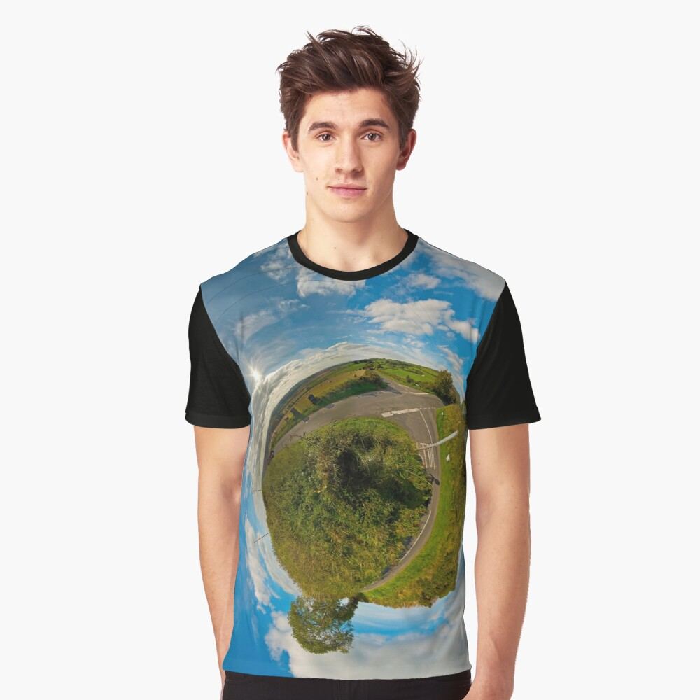 Country Roads - Killea Crossroads, Derry, N. Ireland Graphic T-Shirt Front