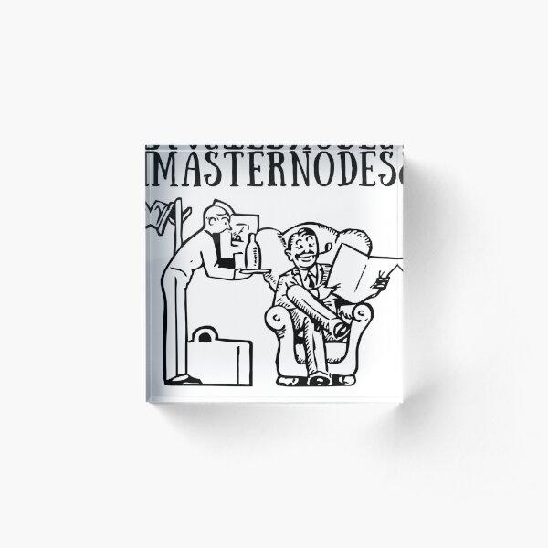 Masternodes Acrylic Block