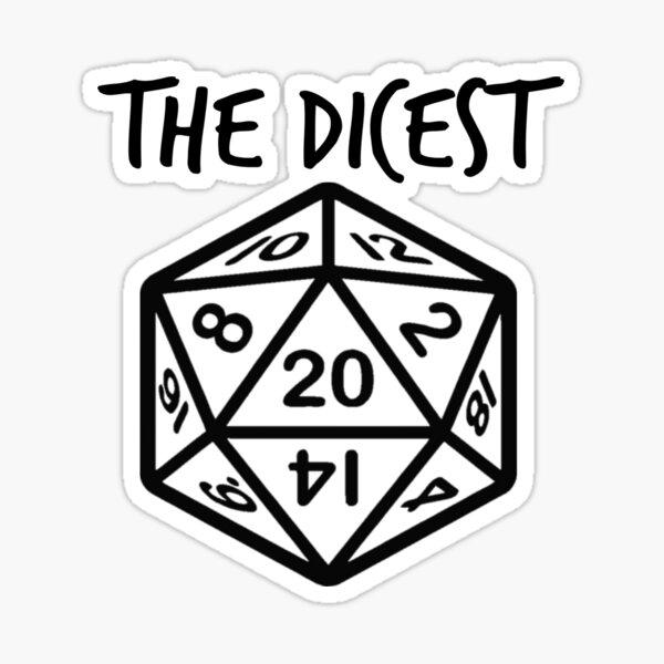 "3/"" Pegatina D20 Nerd críticas fallan RPG Mesa Dungeons Dragons Dados épica Gracioso"