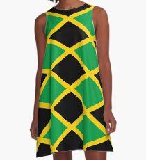 Jamaican National Flag A-Line Dress