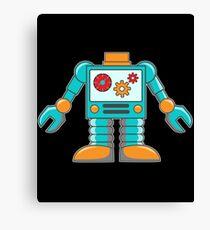 Hipster Robot Vector Canvas Print