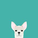 Chihuahua dog head pet art dog breed chihuahuas peeking  by PetFriendly