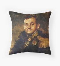 Satirical Portrait - Bill Murray  Throw Pillow