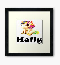 Holly Name / Inspired by The Color of Money Framed Print