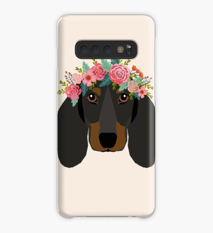 Dachshund floral crown dog breed pet art dachshunds doxie pupper gifts Case/Skin for Samsung Galaxy