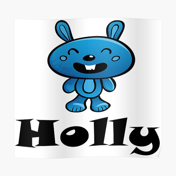 Holly Bunny Poster