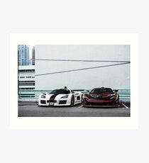 Apollo S & McLaren P1 GTR Art Print