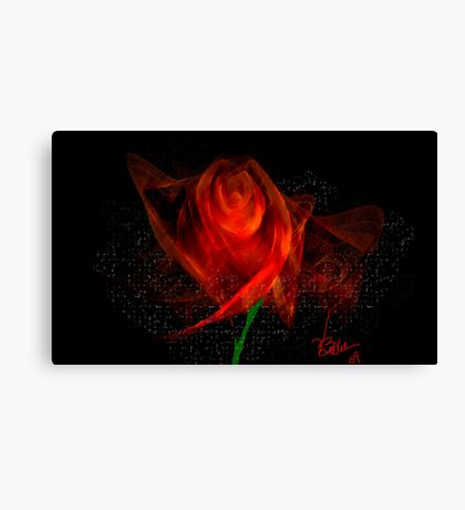 Rose of Fractal Red Canvas Print