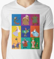 Robin Hood characters Men's V-Neck T-Shirt