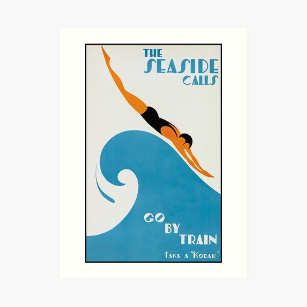 The Seaside Calls, Australia Vintage Travel Poster Art Print