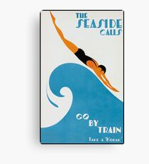 Lienzo The Seaside Calls, Australia Vintage Travel Poster