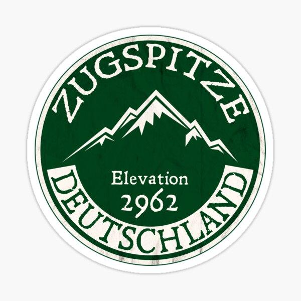 Ski ZUGSPITZE Deutschland Skiing Mountain Germany Garmisch-Partenkirchen Sticker