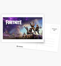 Fortnite Loading Screen with writing Postcards