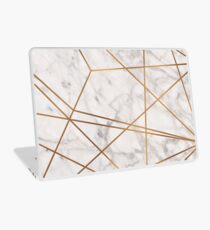 Golden Poly Marble Laptop Skin