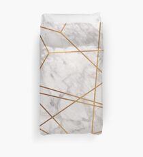 Golden Poly Marble Duvet Cover