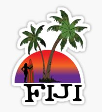 Fiji sunset Sticker
