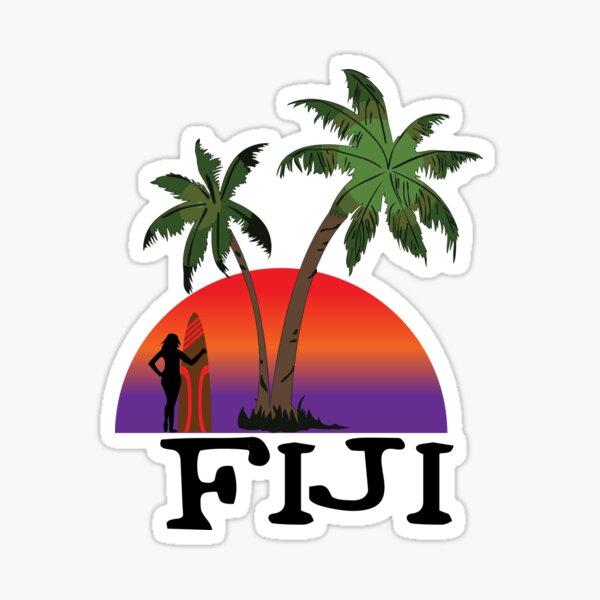 Fiji sunset Sticker