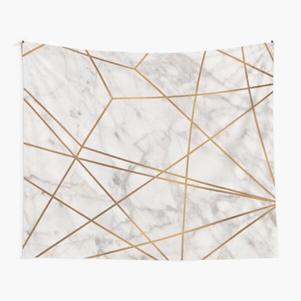 Golden Poly Marble Tapestry
