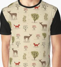 Forest Animals Vector Graphic T-Shirt
