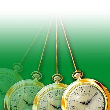 Green Hypnosis Swinging Pocket Watch Design by harrizon