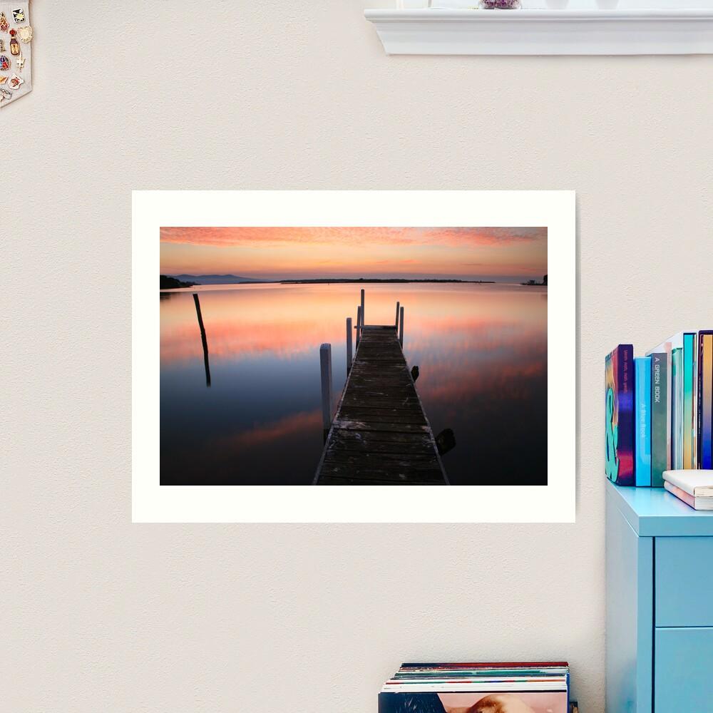 A new day dawns, Mallacoota, Australia Art Print