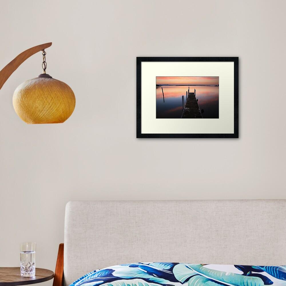 A new day dawns, Mallacoota, Australia Framed Art Print