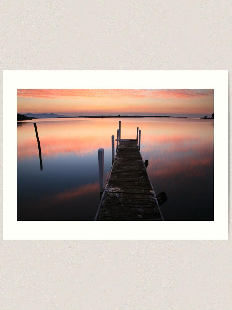 Alternate view of A new day dawns, Mallacoota, Australia Art Print