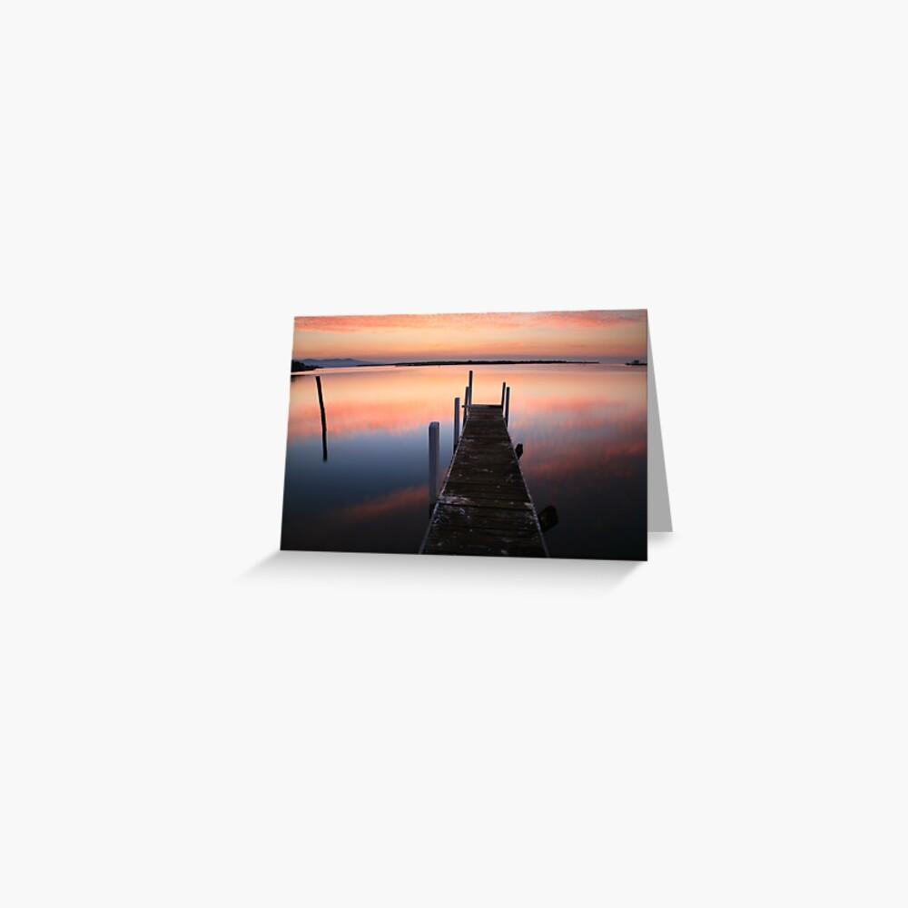 A new day dawns, Mallacoota, Australia Greeting Card