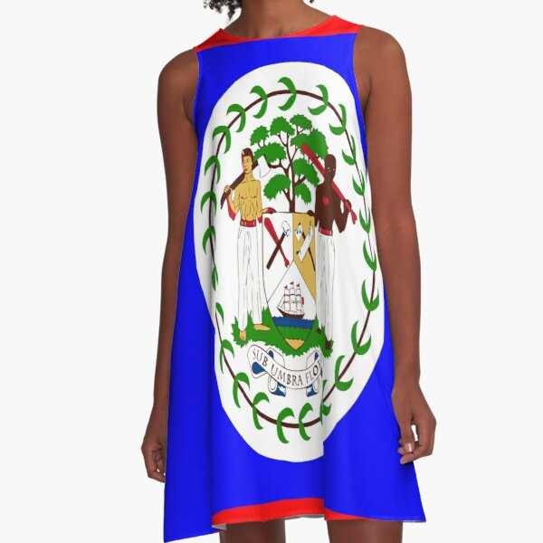 Flag of Belize  A-Line Dress