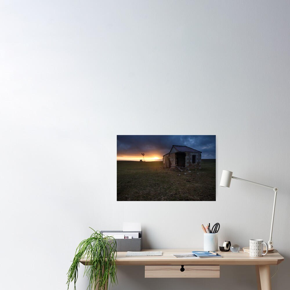 The Cattle Yard, South-Western Victoria, Australia Poster