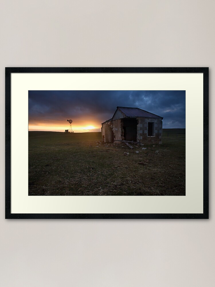 Alternate view of The Cattle Yard, South-Western Victoria, Australia Framed Art Print