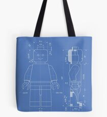 Lego Minifig Patent Tote Bag