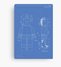 Lego Minifig Patent Canvas Print