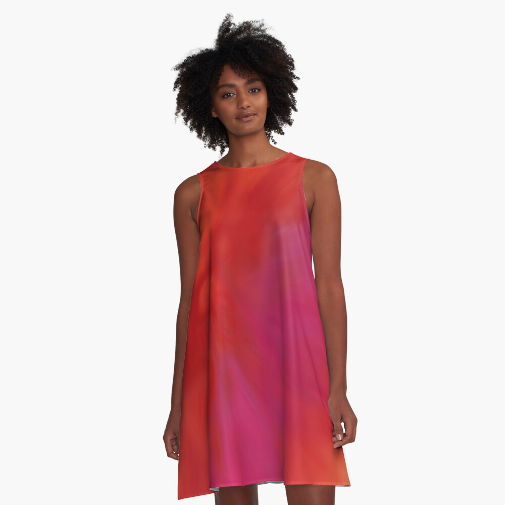BLAZE - Abstract A-Line Dress Front