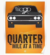Cinema Obscura Series - The Fast & the Furious - Quarter Mile Poster
