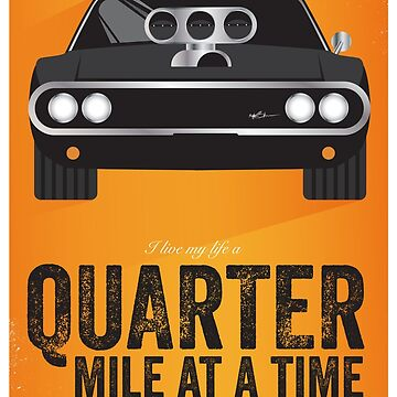 Cinema Obscura Series - The Fast & the Furious - Quarter Mile by gbloomdesign