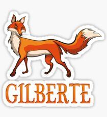 Gilberte Fox Sticker