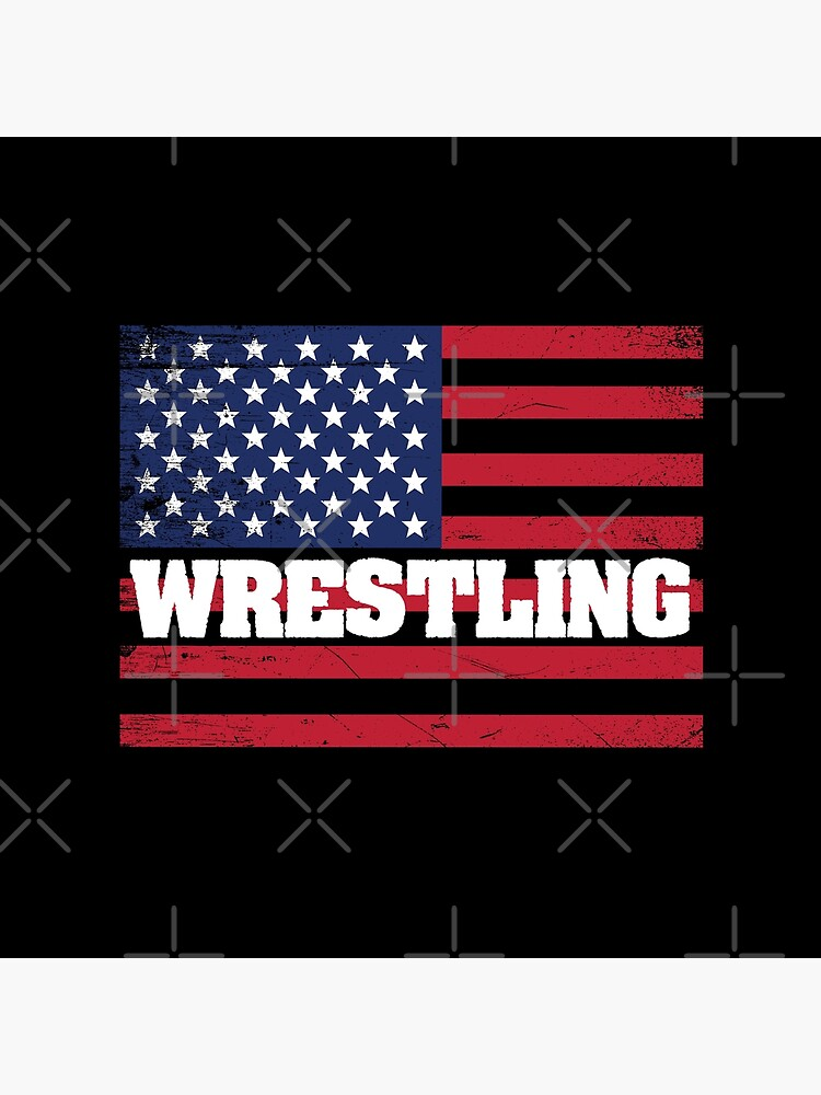 Wrestling USA Flag Design - Wrestling von kudostees
