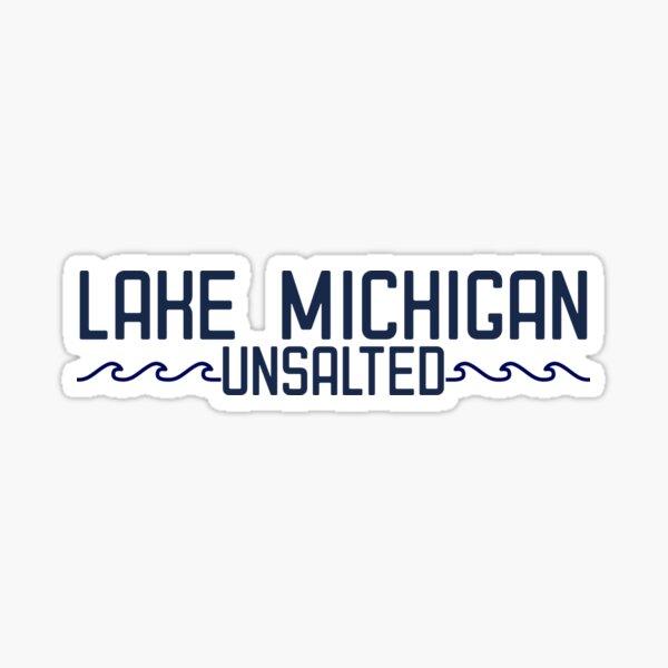 Lake Michigan (navy) Sticker