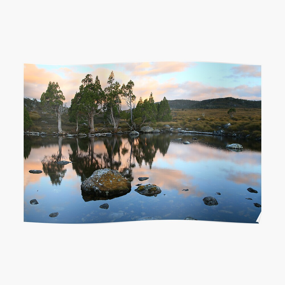 Tarn Reflections, Cradle Mountain National Park, Australia Poster