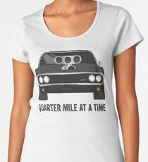 Camiseta premium para mujer Serie Cinema Obscura - The Fast & the Furious - Cuarto de Milla