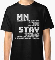 MN Funny Winter Design Classic T-Shirt