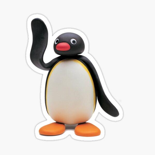 Pingu dit bonjour Sticker