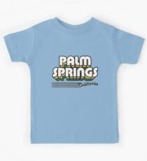 Palm Springs, California | Retro Stripes Kids Tee