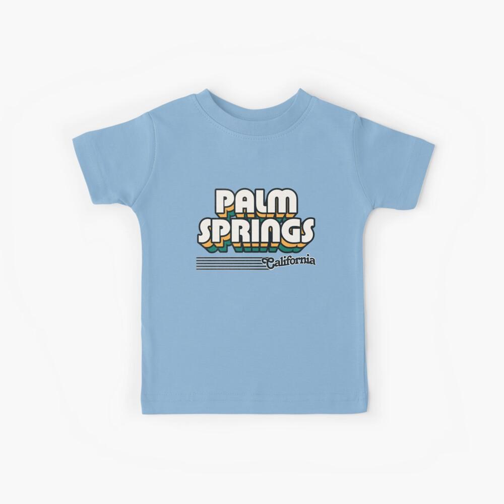 Palm Springs, California | Retro Stripes Kids T-Shirt