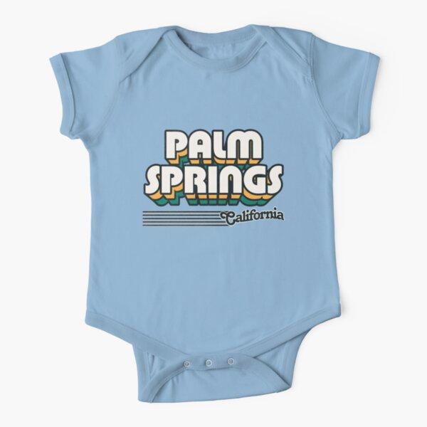 California Sunset Baby Short Sleeve Romper Onesie Bodysuits for Toddler