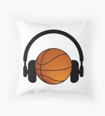 Basket and music Throw Pillow