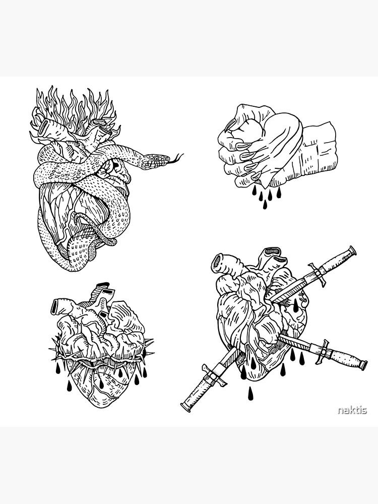 Love is evil black & white. by naktis